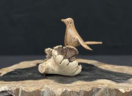 Vogel van parasiet hout, 10cm