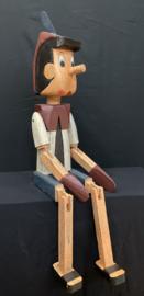 Pinokkio XL zittend, 120cm