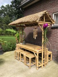 Bamboe picknick set met dakje
