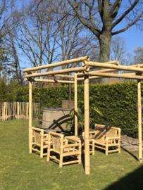 Bamboe prieel bouwen, maatwerk