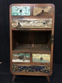 Teak kast recycle wood , lengte 60cm , diep 40cm , hoog 110cm
