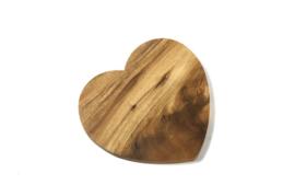 Hartvormig onderzetter/broodplank