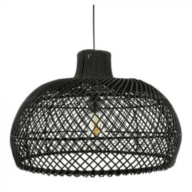 Rotan hanglamp Debby zwart L