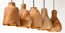 Nieuwe collectie Houten hanglampen Kinta