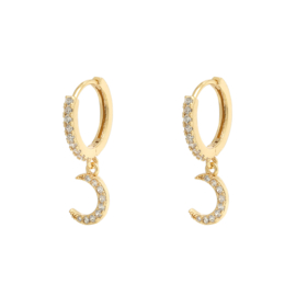 Earrings zirkonia moon