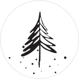 Muurcirkel denneboom wit