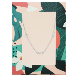 Ketting love mom zilver