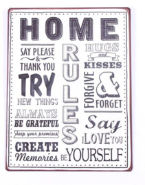 Tekstbord Home