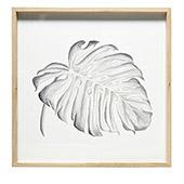 Eikenhoutenlijst met botanische print 65 x 65 cm