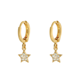 Earrings zirkonia star