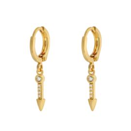 Earrings Zirkonia Arrow