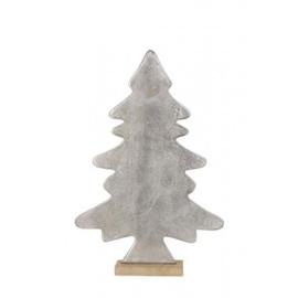 Kerstboom hout/ ruw nikkel
