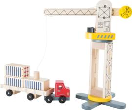 Houten Transporter / kraan