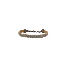 Armband fijn gevlochten zeegrijs