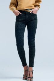 Skinny broek print groen