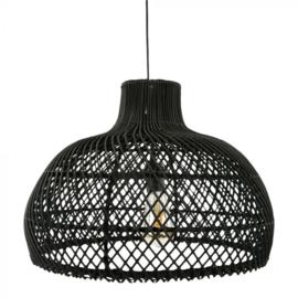 Rotan hanglamp Debby zwart M