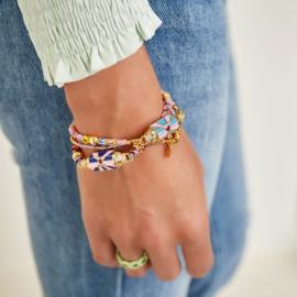gekleurde koperen armband