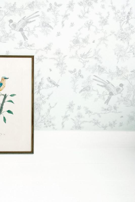 Behang Birds & Blossom GREY