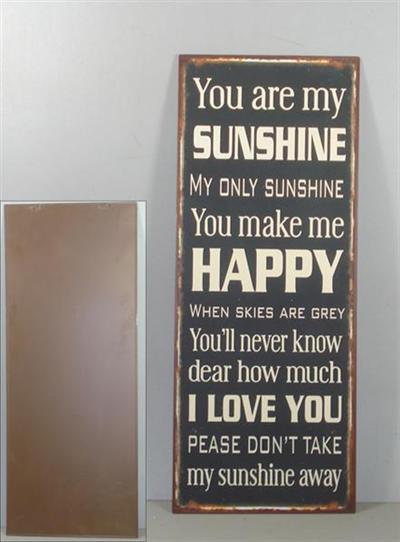 Tekstbord Sunshine