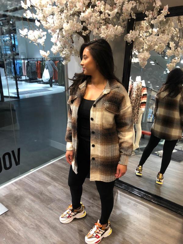 Chelsea blouse brown