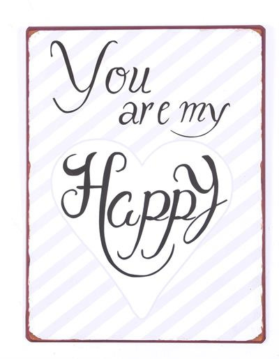 Tekstbord Happy