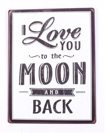 Tekstbord Moon