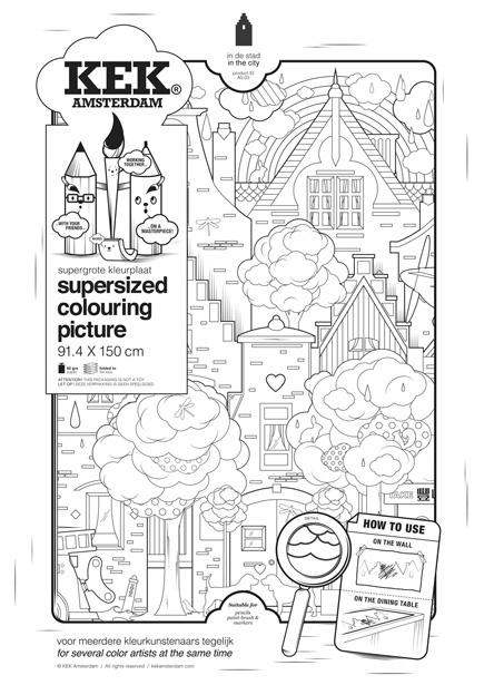 Kleurplaat supergroot by KEK