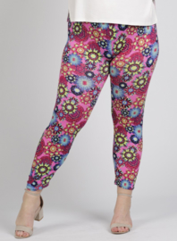 Legging Basic (F-0031-VISPR) - A60006-Pink flower