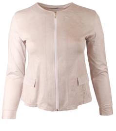 Kort Leather Look jasje (K-31-LL) 018-Creme