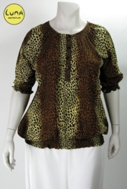Blouse Chanti (10-1573-browntiger)