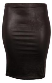 Rok Luzerne Leather Look (G-41-LL) 001-Zwart