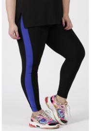 Legging Streep (F-9002) 001-zwart/060-Dr.Cobalt