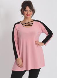 Shirt open neklijn  (B-8024) 075-Roze