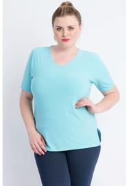Shirt korte mouw (B-04) 051-Aqua Blauw