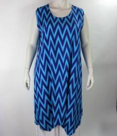 Tuniek Demi (18-2088-blauw zigzag)