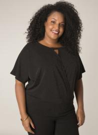 (32065P) Zwart/Lurex glitter shirt