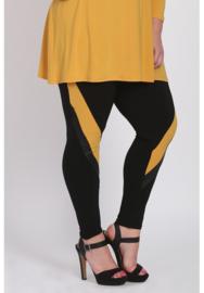 Legging schuine streep (F-9001) 076-Mellow Yellow