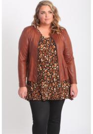 Kort Leather Look jasje (K-31-LL) 063-Oranje