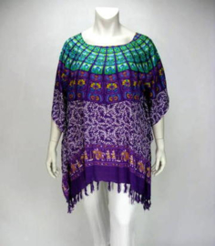 Saron Blouse (06-3250-Greenpurpsquare)