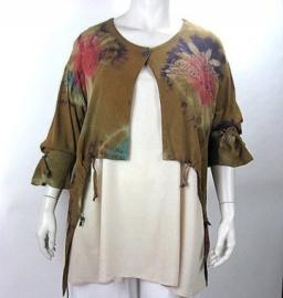 Jacket Alice Krinkle (04-2560-lbrownredtd)