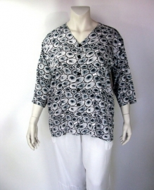 Blouse Denver (23-3141-blackwhitekiwi)