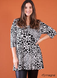 Lange basic shirt (B-6004-BVISPR) 00001B-Leopards Spots Black