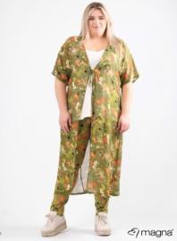Lang Lichtgewicht Vest (N-2005) A65023-Flower Jungle Green