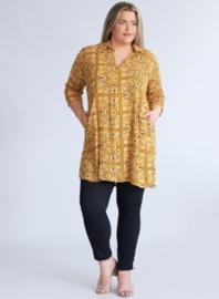 Tuniek met zakken (C-9003-LVIS-print) 852076-Mango Yellow squares