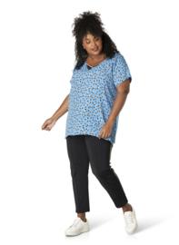 "(40155p) ""Razia""  Shirt korte mouw stippen print"