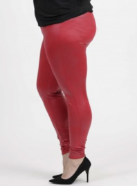 Legging Leather Look (F-23 LL) 015-Rood