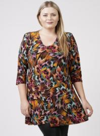 Lange basic shirt (B-6004-PR) 908065-bloemen print