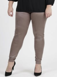 Legging Leather Look (F-23 LL) 061-Taupe