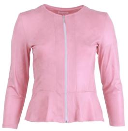 Kort jasje met schootje (K-7001-LL) 075-Roze