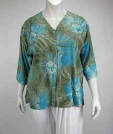 Blouse Denver (15-2409 - turqgoldsin)